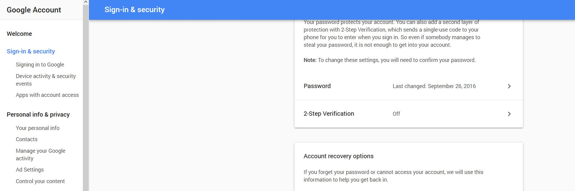 Gmail Security Settings - Reach Absolute